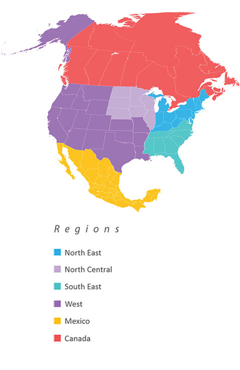Sales Support Region Map